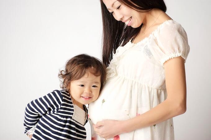妊娠中のママと男の子